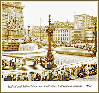 Soldiers' And Sailors' Monument Dedication, Indianapolis, Indian Poster by A Gurmankin