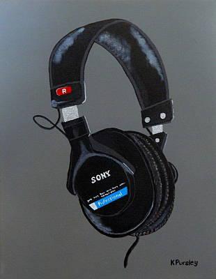 Sony Headset Poster by Ken Pursley