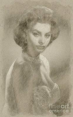 Sophia Loren Hollywood Actress Poster by Frank Falcon