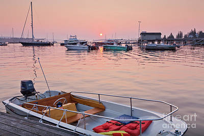 Southwest Harbor Sunrise Poster by Susan Cole Kelly