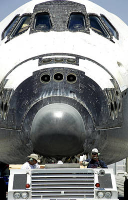 Space Shuttle Atlantis Is Towed Poster
