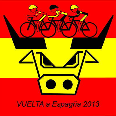 Spanish Bull Poster by Asbjorn Lonvig