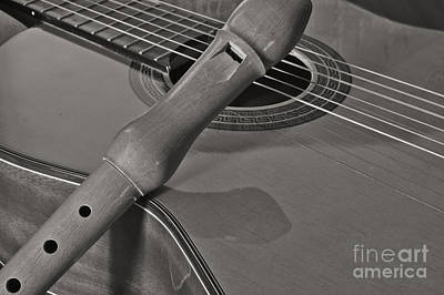 Spanish Guitar And Flute Poster