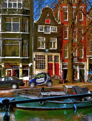 Poster featuring the photograph Spiegelgracht 6. Amsterdam by Juan Carlos Ferro Duque