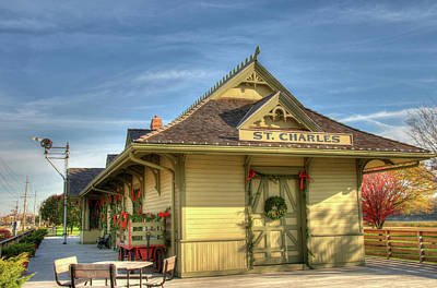 St. Charles Depot Poster