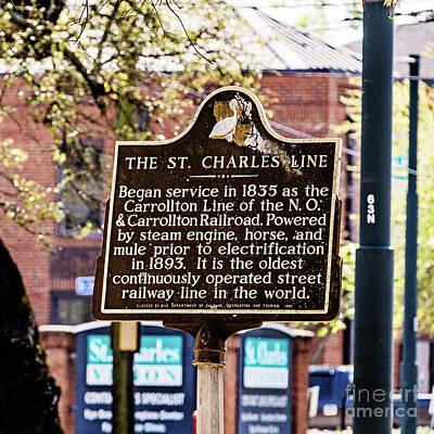 St. Charles Line Poster by Scott Pellegrin
