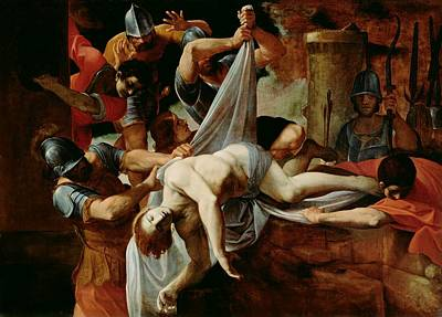 St Sebastian Thrown Into The Cloaca Maxima Poster by Mountain Dreams