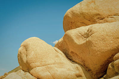 Stacked Boulders Joshua Tree Poster