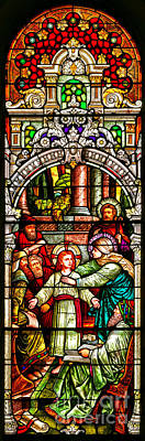 Poster featuring the photograph Stained Glass Scene 3 Crop by Adam Jewell