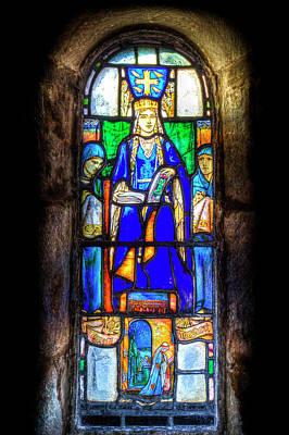 Stained Glass Window Edinburgh Poster by David Pyatt