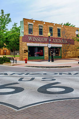 Standing On The Corner - Winslow Arizona Poster by Jon Berghoff