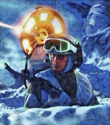 Star Wars Battle Of Hoth - Wax Over Oil Canvas Poster by Leonardo Digenio