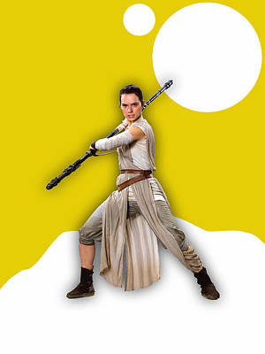 star Wars Rey Collection Poster by Marvin Blaine