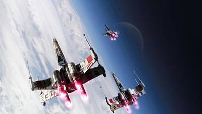 Star Wars Xwings                    Poster by F S