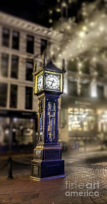 Poster featuring the photograph Steam Clock by Jim  Hatch