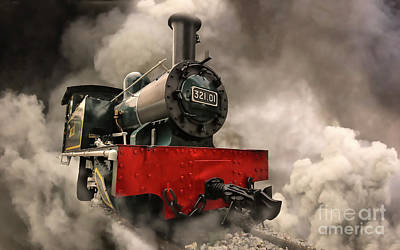 Poster featuring the photograph Steam Engine by Charuhas Images