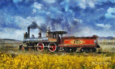Poster featuring the photograph Steam Locomotive by Ian Mitchell