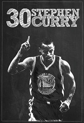 Stephen Curry Nba Poster by Semih Yurdabak