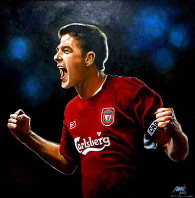 Steven Gerrard Painting Poster