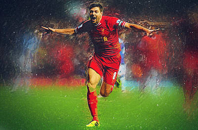 Steven Gerrard Poster by Semih Yurdabak
