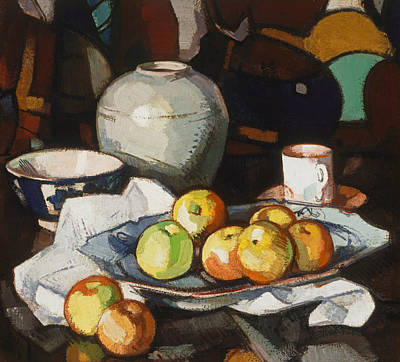 Still Life - Apples And Jar Poster