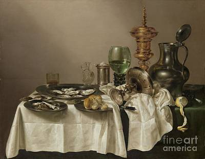 Still Life With A Gilt Cup Poster by R Muirhead Art