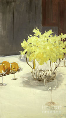 Still Life With Daffodils Poster by John Singer Sargent