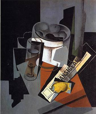 Still Life With Newspaper Poster by Juan Gris