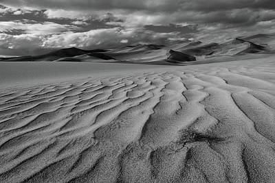 Storm Over Sand Dunes Poster