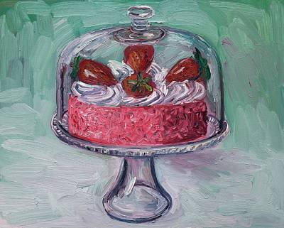 Strawberry Mousse Cake Poster