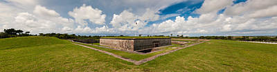 Streaming Clouds Over Fort Macon Poster