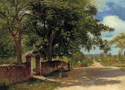 Street In Nassau Poster by Albert Bierstadt