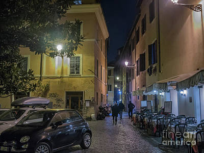 Street Scene From Trastevere District Of Rome, Italy Poster