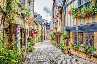 Streets Of Dinan Poster by JR Photography
