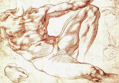 Study For Adam Poster by Michelangelo Buonarroti