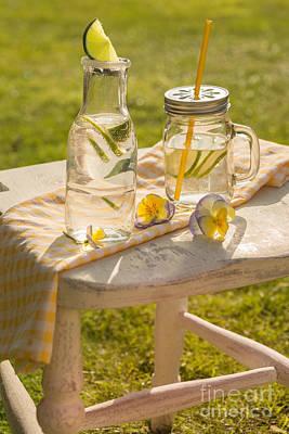 Summer Drinks Poster by Amanda Elwell