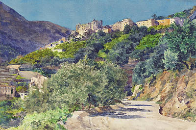 Sun-drenched Hills Near Menton Poster