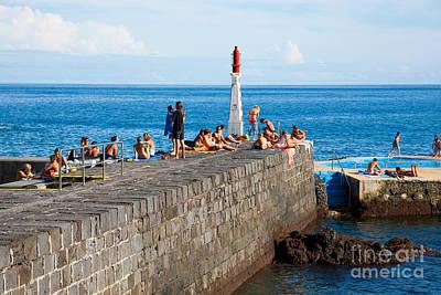 Sunbathing In Azores Poster by Gaspar Avila