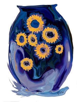 Poster featuring the digital art Sunflower 1 by Rabi Khan
