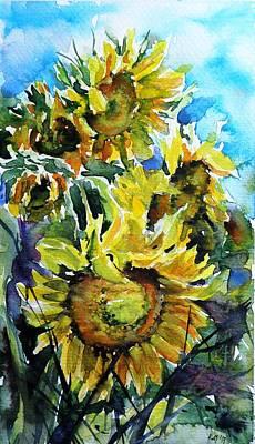 Sunflowers Poster by Kovacs Anna Brigitta