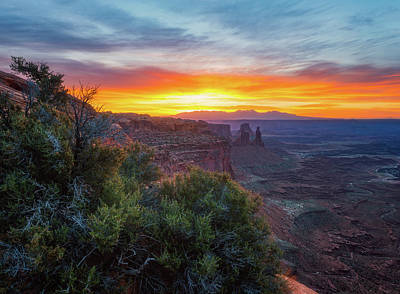 Poster featuring the photograph Sunrise Over Canyonlands by Darren White