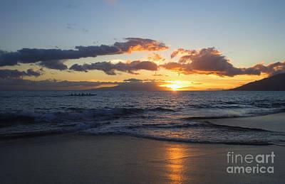 Sunset At Kamaole Beach Poster