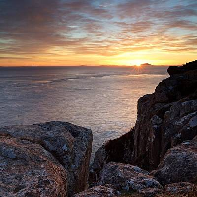 Sunset At Neist Point Poster by Stephen Taylor