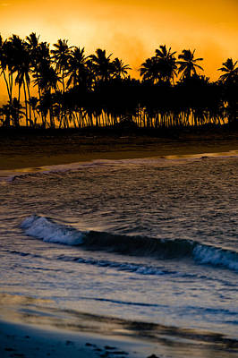 Sunset At The Beach Poster by Sebastian Musial