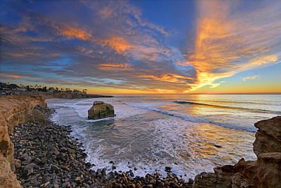 Sunset Cliffs Poster by Mark Whitt