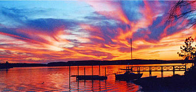 Sunset Over Lake Murray Poster
