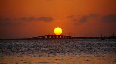 Sunset Seven Mile Bridge Poster