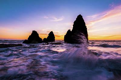 Sunset Splash Poster