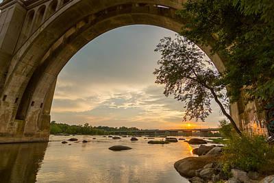 Sunset Under The A-line Bridge Poster by Chris Marcussen