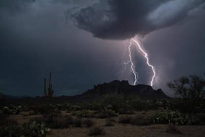Superstition Lightning  Poster by Saija Lehtonen